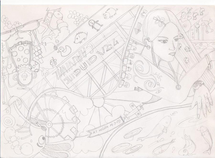amusement park doodle by kum4h4