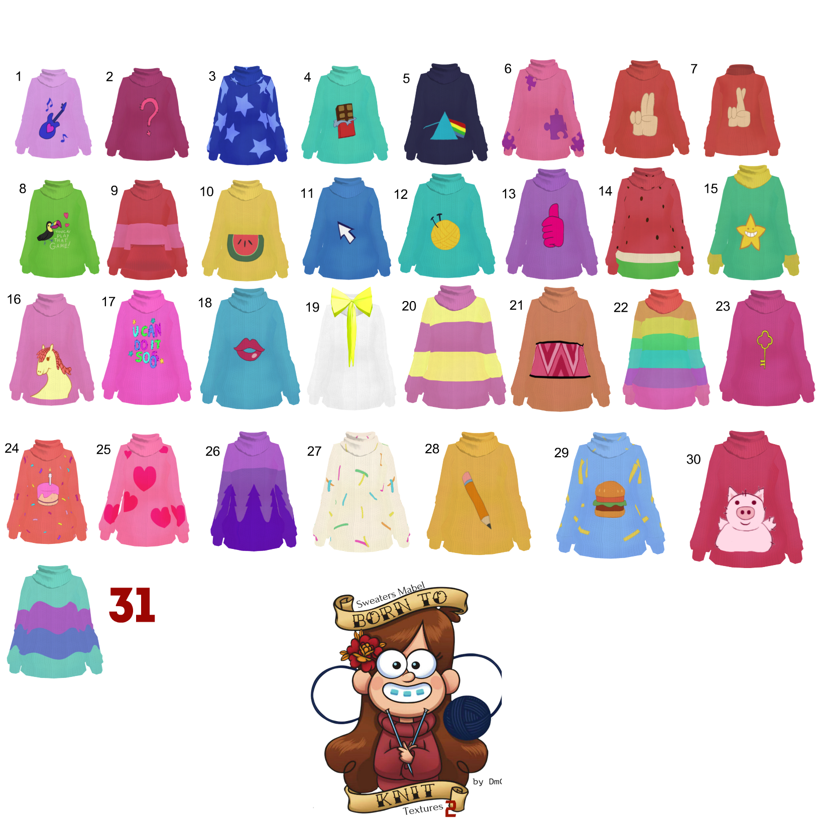 how to draw sweater texture