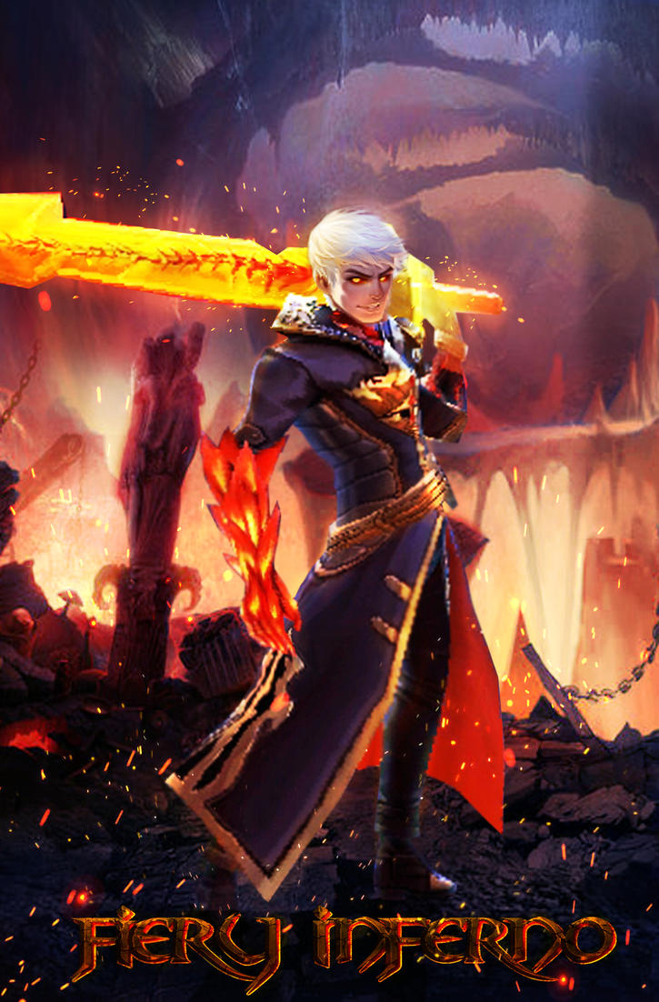 Hd wallpaper mobile legends - Fiery Inferno Skin Alucard Of Mobile Legends By Laxzear
