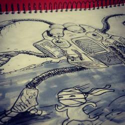 Weekly Doodle Mech Brothers by PeterMilko