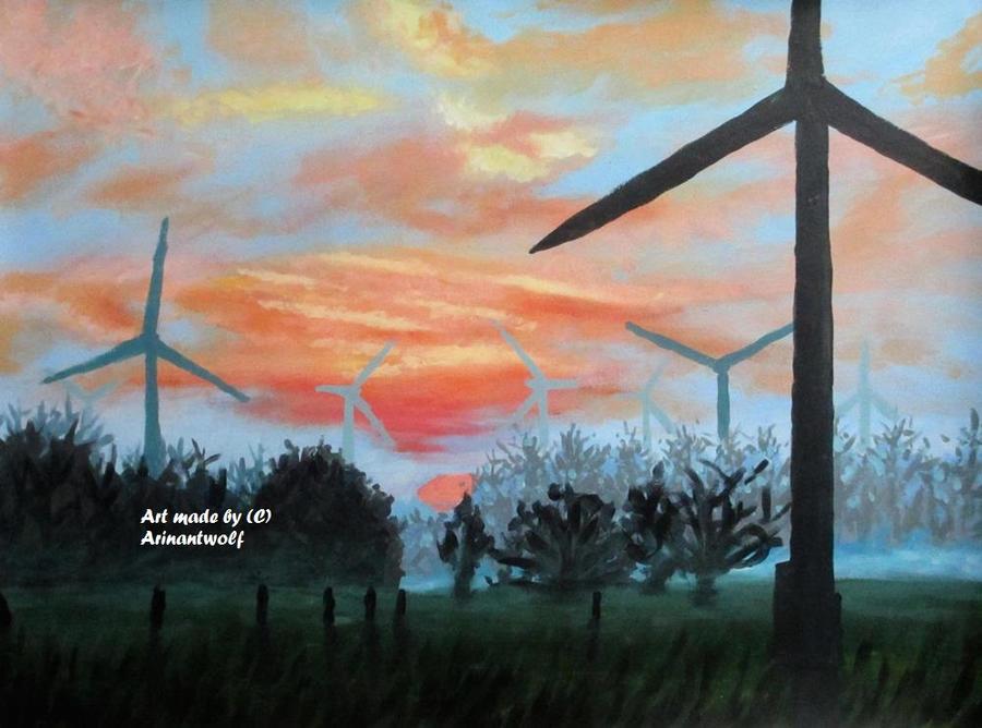 Groningen met windmolens (pt11) by ArinantWolf