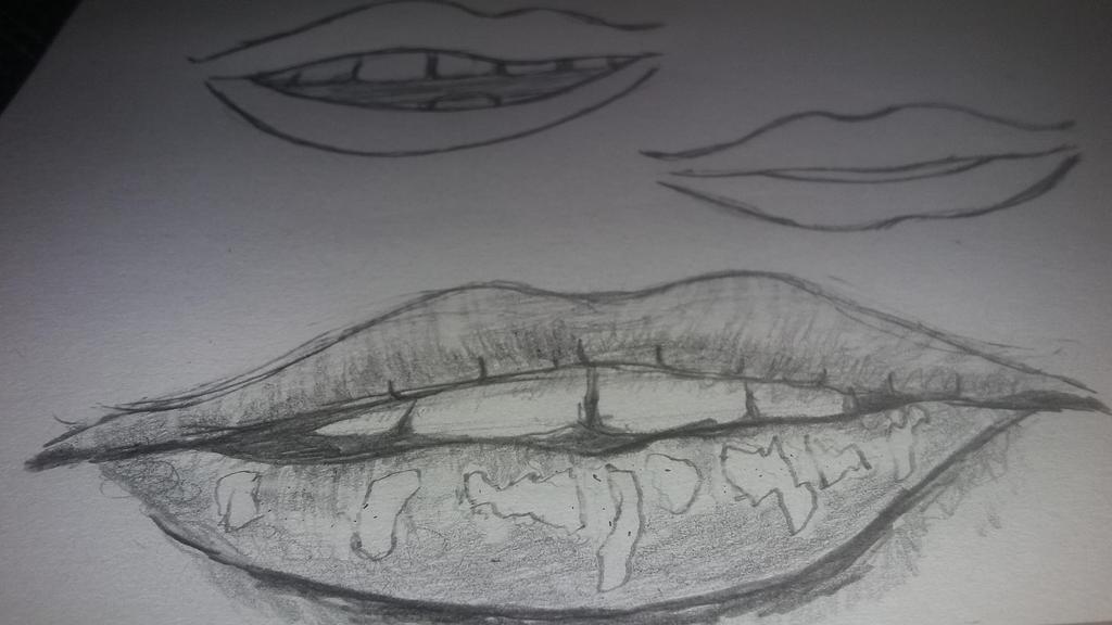 lips sketch  by blacklelefant