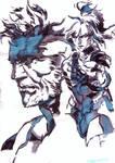 Solid Snake and Raiden Yoji Shinkawa
