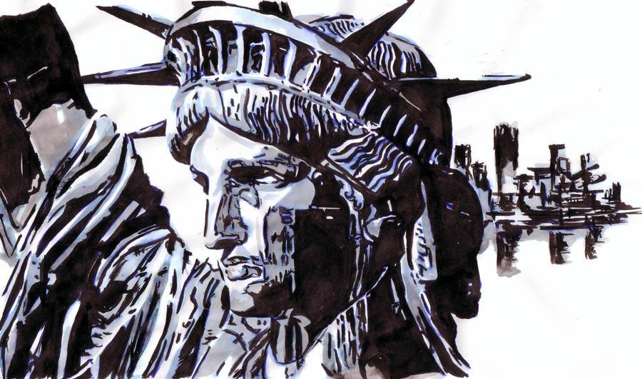 Statue of Liberty Shinkawa style by Thestickibear
