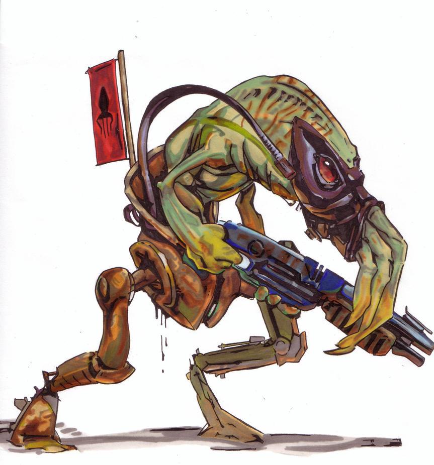 Oddworld slig (promarker) by Thestickibear