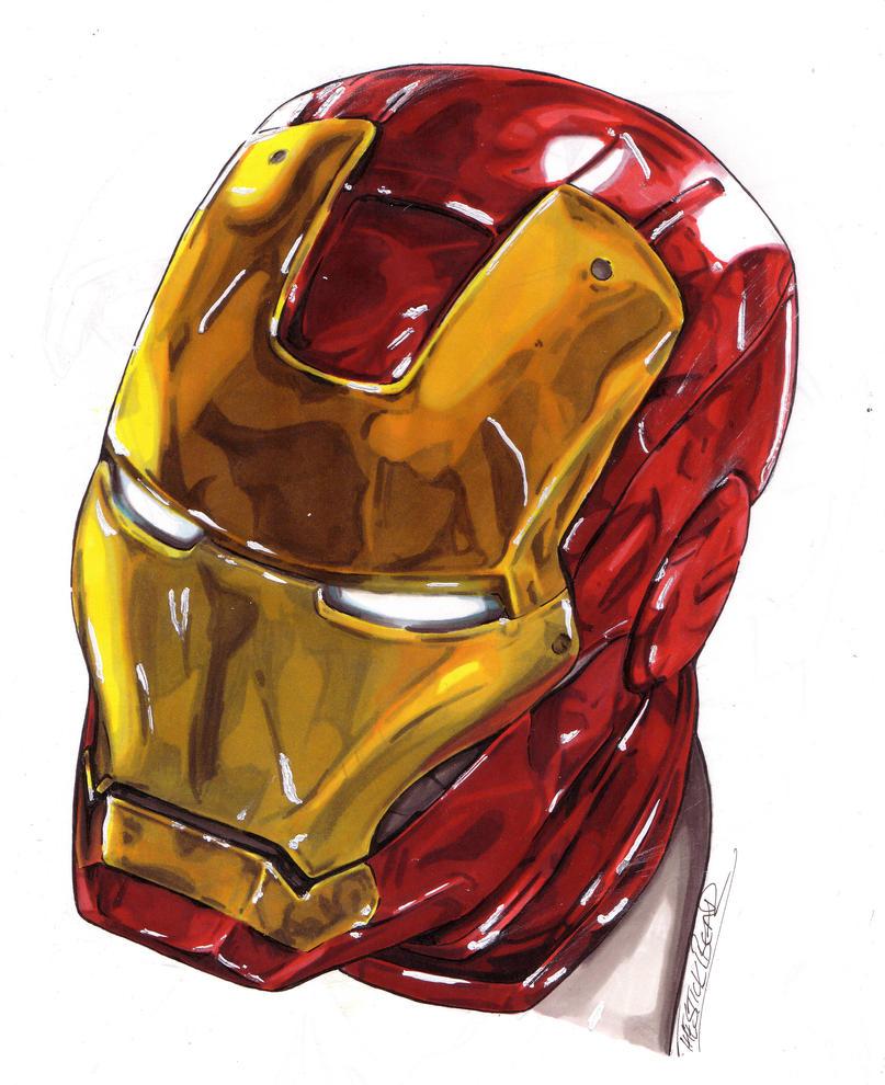 Ironman MK 7 Helmet (Promarker) by Thestickibear