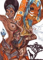 African Warrior Superhero Comic by Thestickibear