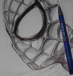 Ballpoint Amazing Spiderman by Thestickibear