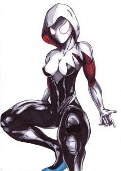More Spider-Gwen/Spiderwoman copic practice