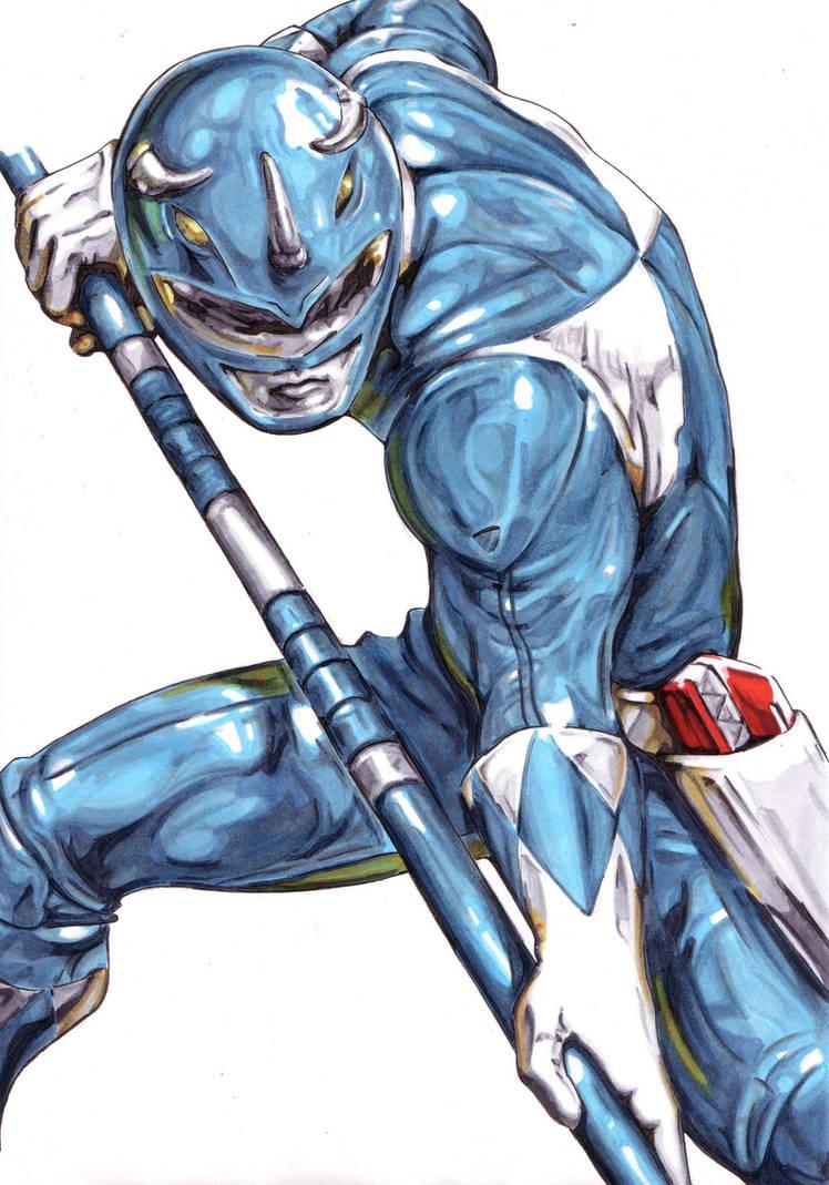 Zyuranger Blue Dan/Mighty Morphin Blue Billy by Thestickibear