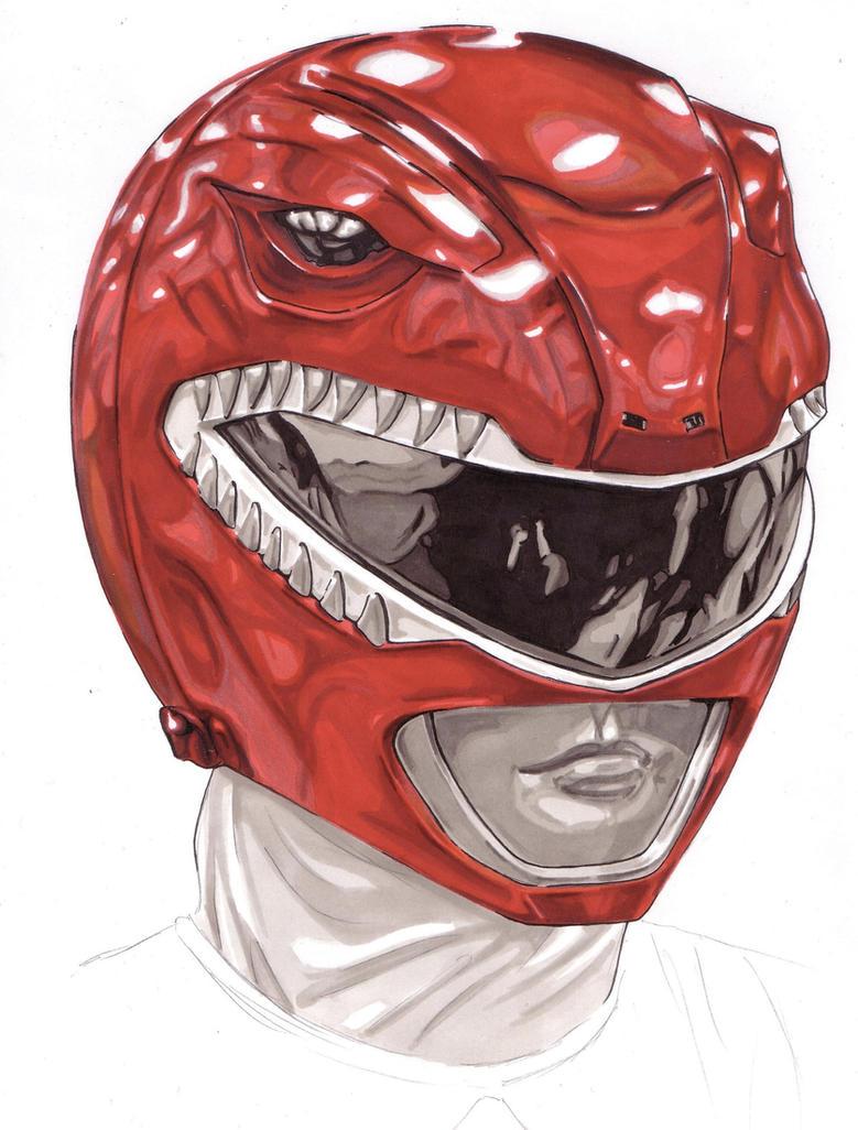 Red Power Ranger/Zyuranger Helmet by Thestickibear