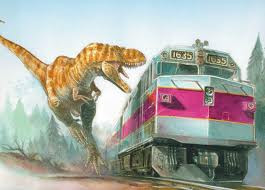Dinosaur vs Train by Jnarup24