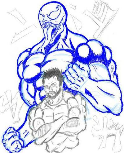 Venom Jojo's style by pervertidolugurioso