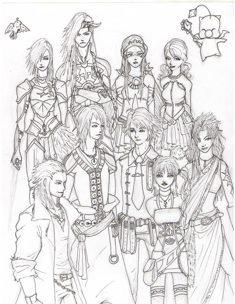 Final fantasy xiii 2 by jan di on deviantart for Final fantasy coloring pages
