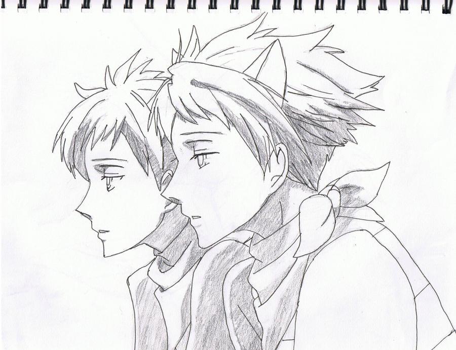 Hikaru and Kaoru Cheshire Cat by Moonfire56
