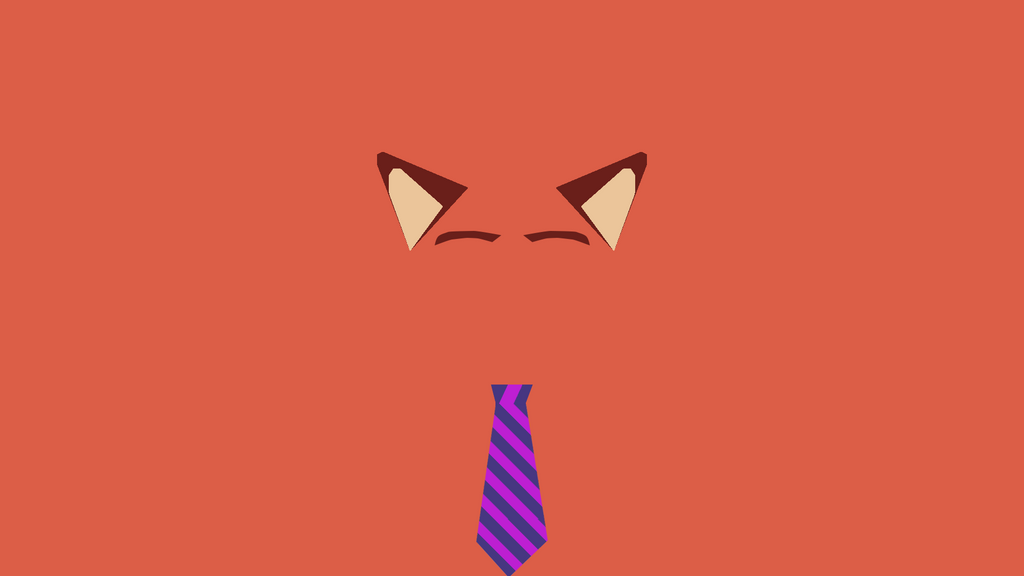 Minimalist nick wilde wallpaper by thecarrox on deviantart for Minimal art reddit