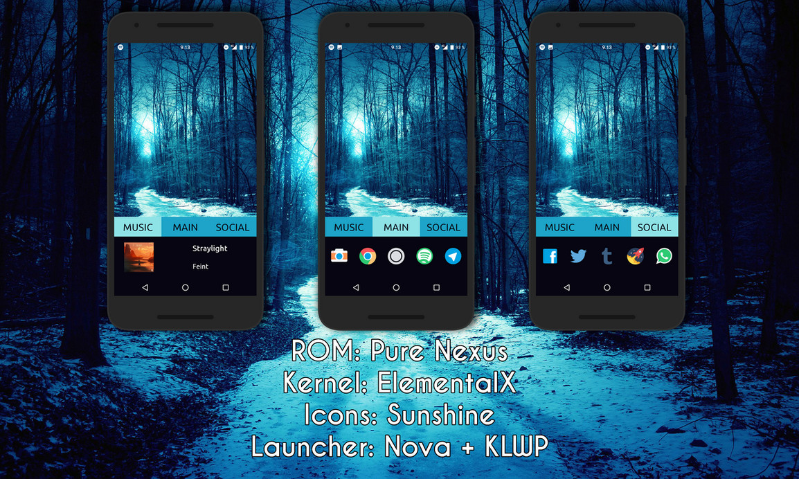 Blue Forest KLWP by TheCarrox