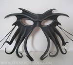 Cthulhu leather mask, black