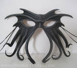 Cthulhu leather mask, black