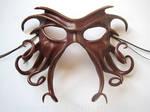Cthulhu mask, oxblood and bronze