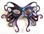 Large Cthulhu Mask, red-purple and metallic blue