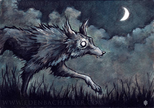 Slinking Wolf Watercolour