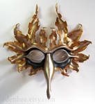 Sun and Moon leather bird mask by shmeeden