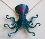 Octopus of Love leather pendant necklace