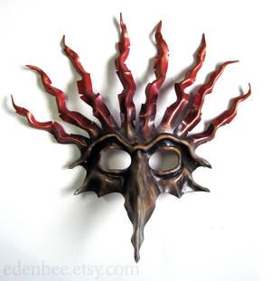 The Fool custom leather mask
