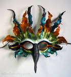 Fantasy Tropical Bird leather mask