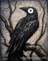 Black Bird XXXV mixed media on canvas by shmeeden