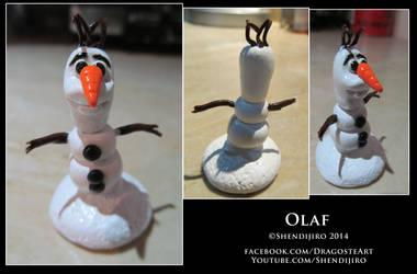 Olaf Miniature Sculpture by Shendijiro