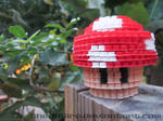 3D Mario Mushroom   Bead Sprites by Shendijiro
