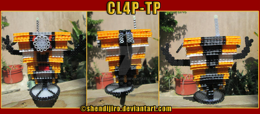 3D Claptrap - Borderlands | Bead Sprites | DIY Vid by Shendijiro