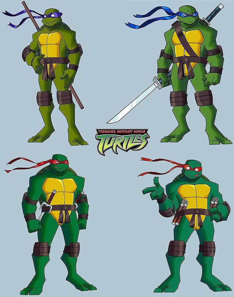 Teenage Mutant Ninja Turtles 2003 Toys : Tmnt btts redesign by homey on deviantart