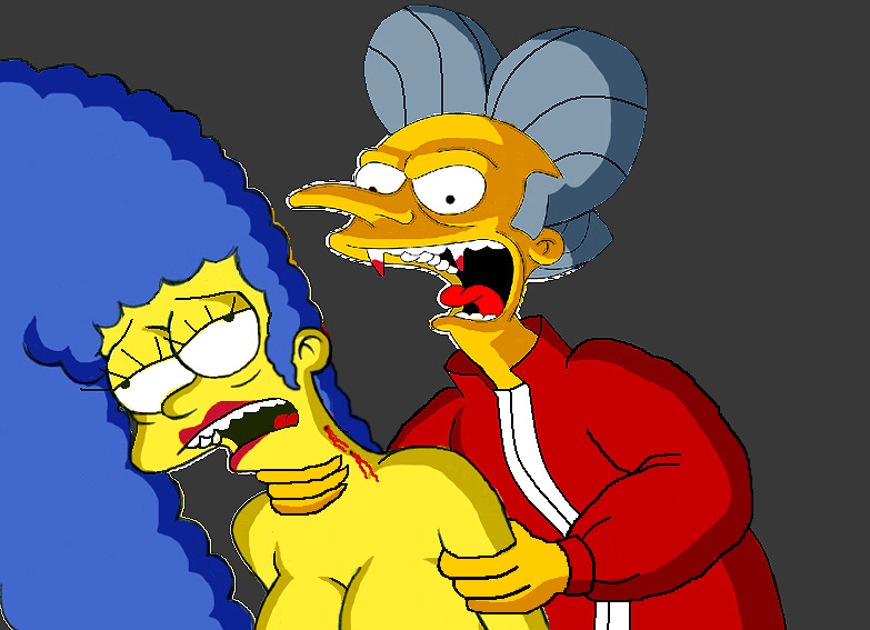 Count Burns and Marge by Homey104
