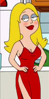 Francine In Red Nightgown