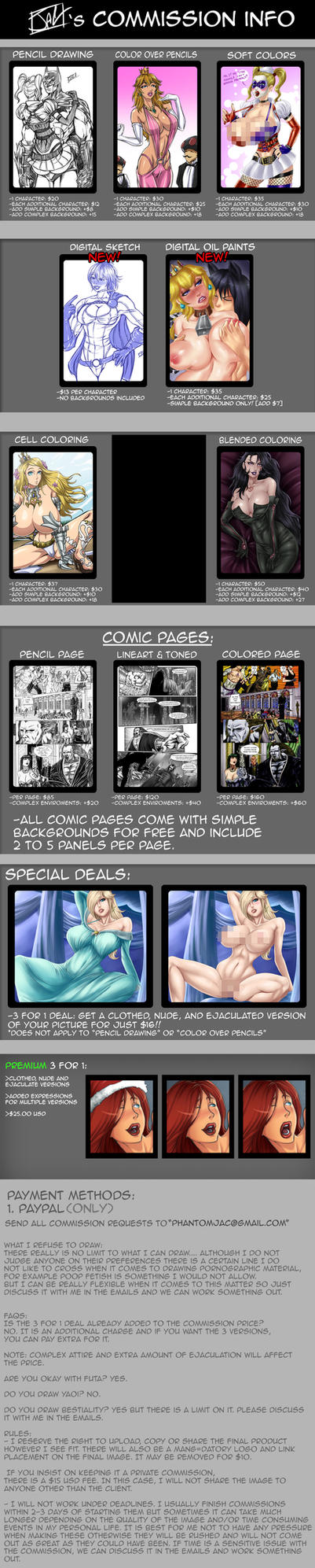 Commissions OPEN! Updated Pricelist by PhantomJAC