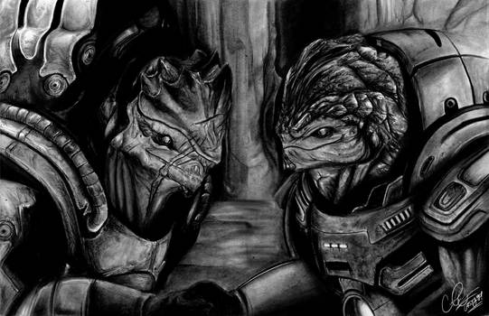Welcome to clan Urdnot - Traditional Charcoal Art
