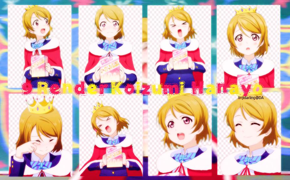 Pack Render 12: Koizumi  Hanayo by linjidarling