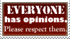 Opinions Stamp by LazloTitan