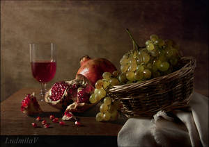 Still life with pomegranate by Topulia