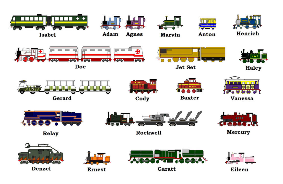 the gallery for gt thomas and friends characters names