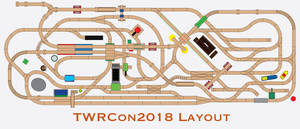 TWRCon2018 Layout Track Plan