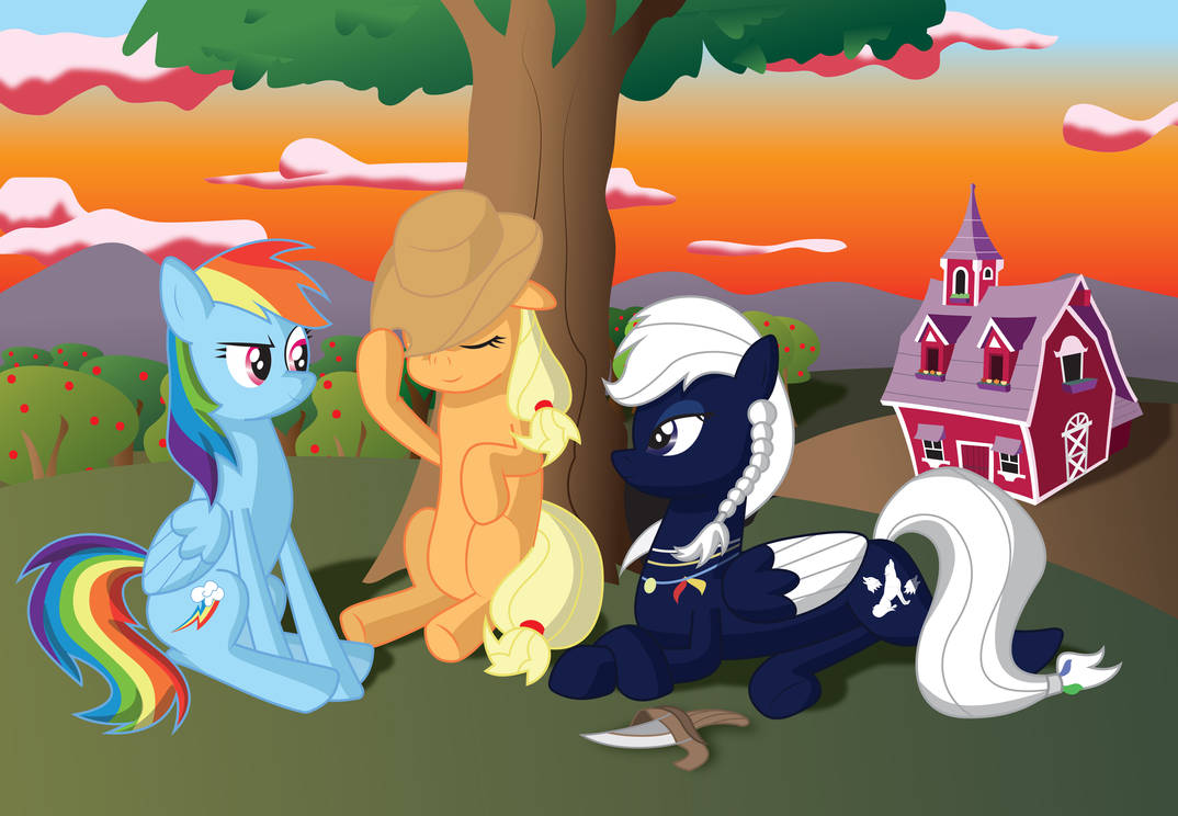 Sunset at Sweet Apple Acres (Art Request) by miipack603