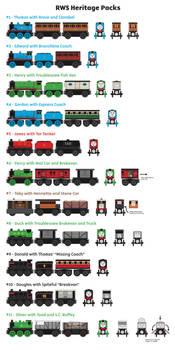 Wooden Railway Ideas - RWS Heritage Packs