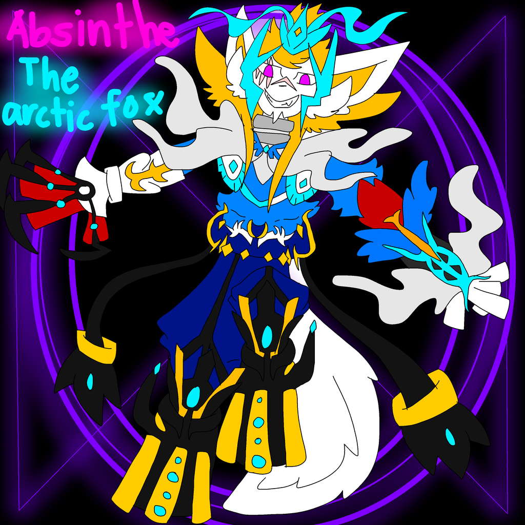 Absinthe The Arctic Fox by FireSnakeGaming13