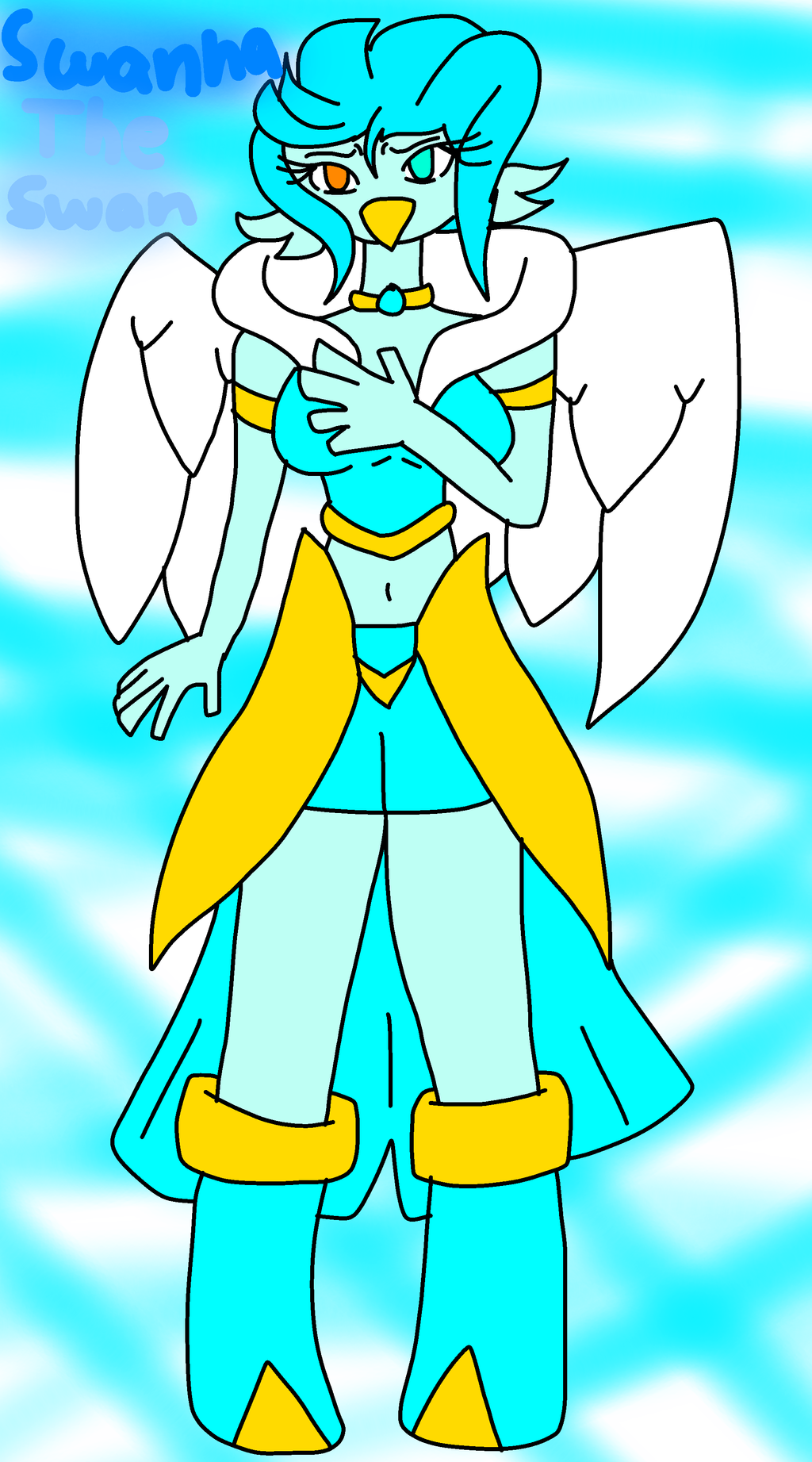 Swanna The Swan by FireSnakeGaming13