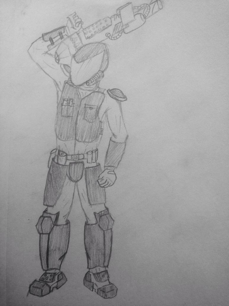 Another soldier dude by BlastShieldBuddy