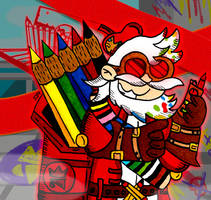 The Missile Maestro. Colour pencils